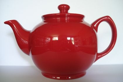 "Teapot ""Fire red"", 0,8l"