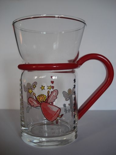 "Tea glass ""Guardian Angel"""