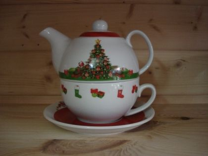 "Tea for one Set ""Chrismas Eve"""