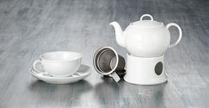 "Teapot and Warmer ""Blanca"", 0.4 l"