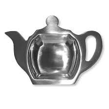 "Rest for teabag ""Teapot"" stainless steel"