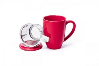 SHAMILA® MUG LOVE WITH STAINLESS STEEL FILTER AND LID