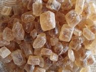 Rock sugar cubes